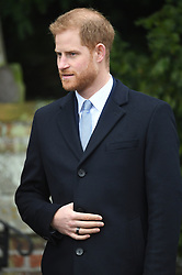 The Duke of Sussex arriving to attend the Christmas Day morning church service at St Mary Magdalene Church in Sandringham, Norfolk.