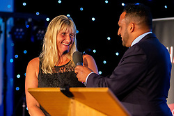 Chef Michael Caines talks with a resprentative from Exeter Athletic Club - Ryan Hiscott/JMP - 06/08/2018 - RUGBY - Sandy Park - Exeter, England - Exeter Chiefs Season Launch Dinner