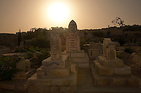 A cemetery near the Western Wall in the Old City of Jerusalem in Israel.