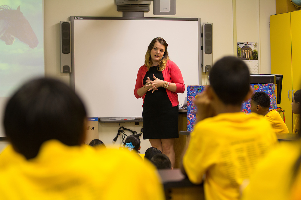 """Discovery Channel visited Sanchez Elementary for the screening of """"The Making of North America""""."""