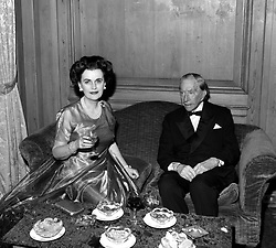 PAUL GETTY and MARGARET, DUCHESS OF ARGYLL at Paul Getty's 80th birthday party at The Dorchester Hotel, Park Lane, London on 14t December 1972.
