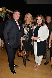 Left to right, MARK ROBINSON, BEATRICE WARRENDER and KATIE HURLEY at the Christie's Conservation Lectures in aid of Tusk held atChristie's, 8 King Street, London on 30th April 2014.
