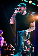 Benjamin Burnley, Vocals with Breaking Benjamin performs at Fivepoint Amphitheater in Irvine Ca. on September 16th, 2016