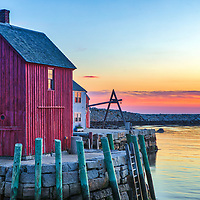 New England harbor scenery of the iconic Motif Number 1 during dawn at Rockport on Cape Ann, Massachusetts.<br /> <br /> Cape Ann Happiness photography photos are available as museum quality photo, canvas, acrylic, wood or metal prints. Wall art prints may be framed and matted to the individual liking and New England interior design projects decoration needs.<br /> <br /> Good light and happy photo making!<br /> <br /> My best,<br /> <br /> Juergen