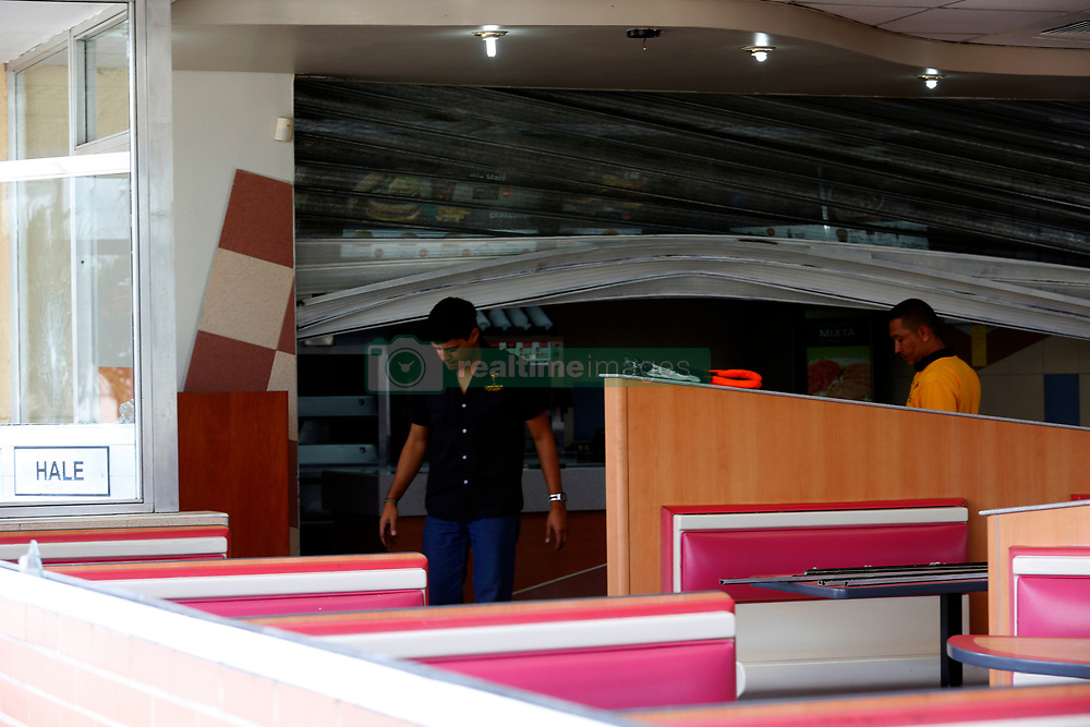 May 4, 2017 - Valencia, Carabobo, Venezuela - The fast food restaurant, Mc Donald's, located in the vicinity of the industrial avenue, in the city of Valencia, Carabobo state. It was looted on the night of May 3 by criminal groups that went out into the street to commit their misdeeds. In the city until yesterday, the number of looting surpassed 70 commercial premises.Photo: Juan Carlos Hern‡ndez (Credit Image: © Juan Carlos Hernandez via ZUMA Wire)