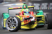 ABT Schaeffler Audi Sport driver, Lucas Di Grassi driving to pit after the crash during round 10, Formula E, Battersea Park, London, United Kingdom on 3 July 2016. Photo by Matthew Redman.