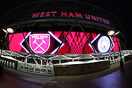 A general view outside London Stadium before tonights game. Premier league match, West Ham Utd v Manchester city at the London Stadium, Queen Elizabeth Olympic Park in London on Wednesday 1st February 2017.<br /> pic by John Patrick Fletcher, Andrew Orchard sports photography.
