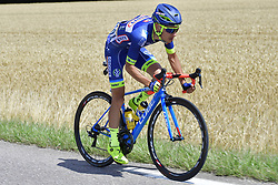 July 4, 2017 - Mondorf Les Bains / Vittel, Luxembourg / France - VITTEL, FRANCE - JULY 4 : SMITH Dion (NZL) Rider of Wanty - Groupe Gobert in action during stage 4 of the 104th edition of the 2017 Tour de France cycling race, a stage of 207.5 kms between Mondorf-Les-Bains and Vittel on July 04, 2017 in Vittel, France, 4/07/2017 (Credit Image: © Panoramic via ZUMA Press)