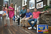 NO FEE PICTURES<br /> 11/2/16 Roisin O'Neill (left) aka Honor, Aoibhin Garrihy aka Sorcha, Laurence Kinlan aka Ronan, Rory Nolan aka Ross and Emmet Byrne as Traolach at a photocall to anounce the return of Ross O'Carroll Kelly's Breaking Dad to the Gaiety Theatre. With record breaking sales of over 45,000 tickets, rave reviews and standing ovations every night Breaking Dad returns to the Gaiety for the final time for strictly two weeks from Monday March 14th until Saturday March 26th 2016. Picture: Arthur Carron