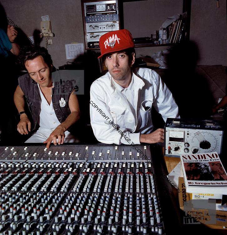 Big Audio Dynamite - Joe Strummer - Don Letts - Mick Jones at Trident Studios - 1986