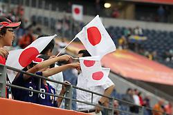 13.07.2011, Commerzbank Arena, Frankfurt, GER, FIFA Women Worldcup 2011, Halbfinale,  Japan (JPN) vs. Schweden (SWE), im Bild Japanische Fahne / Flagge.. // during the FIFA Women´s Worldcup 2011, Semifinal, Japan vs Sweden on 2011/07/13, Commerzbank Arena, Frankfurt, Germany.   EXPA Pictures © 2011, PhotoCredit: EXPA/ nph/  Mueller       ****** out of GER / CRO  / BEL ******