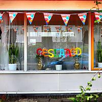 Nederland, Amsterdam ,12 JUNI 2014<br /> Woning van geslaagde middelbare school eindexamen kandidaat in de Stentorstraat in Noord.<br /> Foto:Jean-Pierre Jans