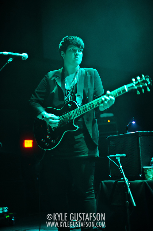 Washington, D.C. - April 24, 2010:  British buzz band The xx open for Hot Chip at the 9:30 Club. (Photo by Kyle Gustafson)