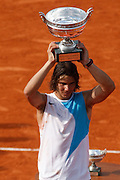 Roland Garros. Paris, France. June 10th 2007..Rafael NADAL won the men's final against Roger FEDERER.