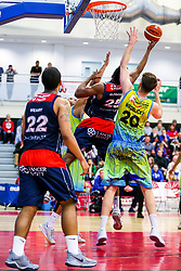 Marcus Delpeche of Bristol Flyers - Rogan/JMP - 17/04/2018 - BASKETBALL - SGS Wise Arena - Bristol, England - Bristol Flyers v Sheffield Sharks - British Basketball League.