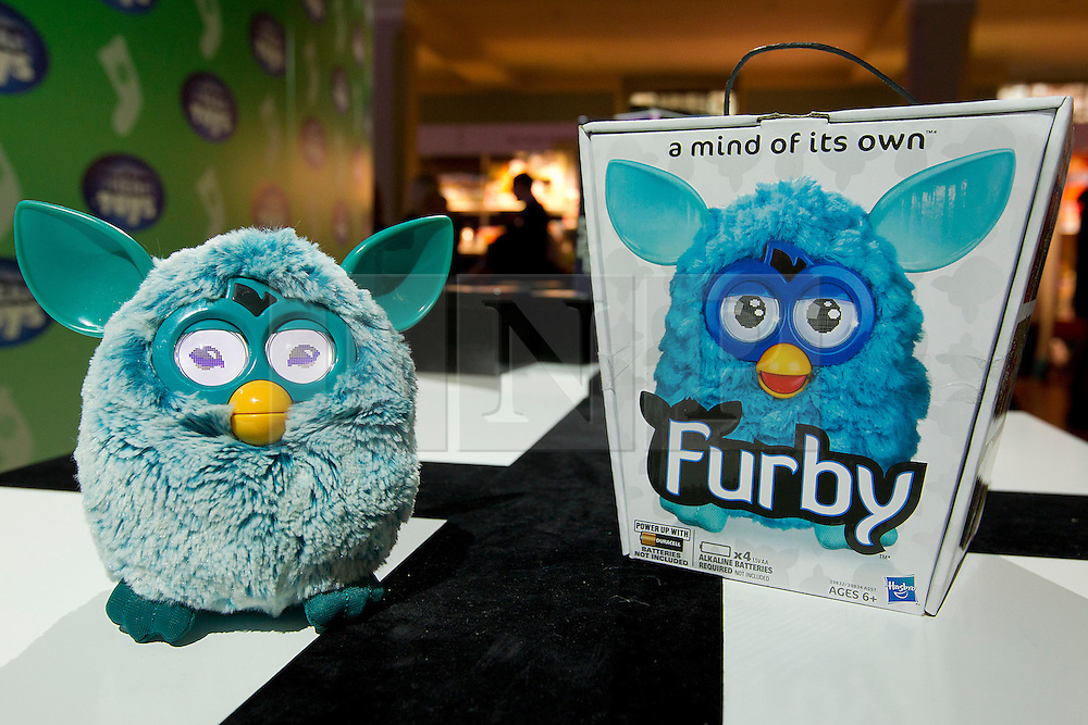 © Licensed to London News Pictures. 31/10/2012. London, UK. A Hasbro 'Furby' (RRP GB£59.99) is seen at a Toy Retailers Association (TRA) fair in London today (31/10/12) as the organisation released its 13 Dream Toys for Christmas 2012. Photo credit: Matt Cetti-Roberts/LNP