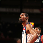 TOKYO, JAPAN August 7:   Kevin Durant #7 of the United States during the France V USA basketball final for men at the Saitama Super Arena during the Tokyo 2020 Summer Olympic Games on August 7, 2021 in Tokyo, Japan. (Photo by Tim Clayton/Corbis via Getty Images)