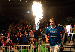 Luka Doncic of Slovenia prior to the friendly basketball match between National teams of Slovenia and Croatia, on June 18, 2021 in Arena Stozice, Ljubljana, Slovenia. Photo by Vid Ponikvar / Sportida