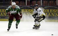 Ishockey<br /> GET-Ligaen<br /> 31.01.08<br /> Askerhallen<br /> Frisk Asker - Stavanger Oilers<br /> Cameron Abbott - Rene Sethereng<br /> Foto - Kasper Wikestad