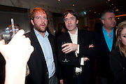 ROBERT MORTIMER; MARQUIS OF CHOLMONDELEY, The after-party after the premiere of Duncan WardÕs  film ÔBoogie WoogieÕ ( based on the book by Danny Moynihan). Westbury Hotel. Conduit St. London.  13 April 2010 *** Local Caption *** -DO NOT ARCHIVE-© Copyright Photograph by Dafydd Jones. 248 Clapham Rd. London SW9 0PZ. Tel 0207 820 0771. www.dafjones.com.<br /> ROBERT MORTIMER; MARQUIS OF CHOLMONDELEY, The after-party after the premiere of Duncan Ward's  film 'Boogie Woogie' ( based on the book by Danny Moynihan). Westbury Hotel. Conduit St. London.  13 April 2010