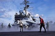 F/A-18C Hornet, Marines, on cat for launch