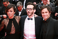 Alice Braga, Pablo Fendrik and Gael Garcia Bernal at the Foxcatcher gala screening red carpet at the 67th Cannes Film Festival France. Monday 19th May 2014 in Cannes Film Festival, France.