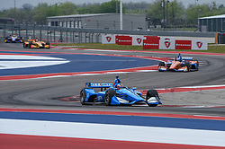 March 23, 2019 - Austin, TX, U.S. - AUSTIN, TX - MARCH 23: Felix Rosenqvist (10) of Chip Ganassi Racing driving a Honda races through the turns during the IndyCar afternoon qualifications at Circuit of the Americas on March 23, 2019 in Austin, Texas. (Photo by Ken Murray/Icon Sportswire) (Credit Image: © Ken Murray/Icon SMI via ZUMA Press)