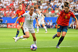 USA's Kelley Ohara during the 2019 FIFA Women's World Cup Round Of 16 match Spain v USA at Stade Auguste Delaune on June 24, 2019 in Reims, France. USA won 2-1 reaching the quarter-finals. Photo by Christian Liewig/ABACAPRESS.COM