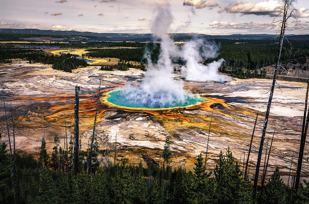 Grand Prismatic Spring in Midway Geyser Basin.