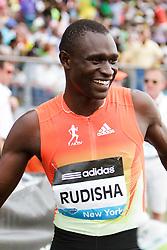 Samsung Diamond League adidas Grand Prix track & field; men's 800 meters, David Rudisha, KEN, winner, post race,