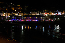 Goldwings prepare for the Scarborough Goldwing Light Parade 2015 from the terrace of the Grand Hotel<br />  11 September 2015<br />  Image © Paul David Drabble <br />  www.pauldaviddrabble.co.uk
