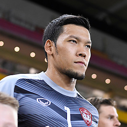 BRISBANE, AUSTRALIA - FEBRUARY 21: Kawin Thamsatchanan of Muangthong United walks out during the Asian Champions League Group Stage match between the Brisbane Roar and Muangthong United FC at Suncorp Stadium on February 21, 2017 in Brisbane, Australia. (Photo by Patrick Kearney/Brisbane Roar)