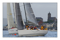 Yachting- The first days racing  of the Bell Lawrie Scottish series 2003 at Gourock.  The wet start looks set to last for the overnight race to Tarbert...Class one's Prima 38  ' Kylidh' at Gourock...Pics Marc Turner / PFM