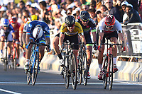 Arrival Sprint, CAVENDISH Mark (GBR) Dimension Data, Yellow Leader Jersey,  KRISTOFF Alexander (NOR) Katusha, Silver Grey Points Jersey, during the 15th Tour of Qatar 2016, Stage 5, Sealine Beach Resort - Doha Corniche (114,5Km), on February 12, 2016 - Photo Tim de Waele / DPPI