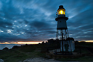 Sunset over Peninnis Head Lighthouse, St Mary's, Isles of Scilly, UK