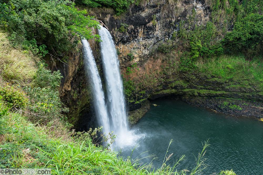 Wailua Falls is a 173-foot-high waterfall on the South Fork Wailua River near Lihue, on the island of Kauai, Hawaii, USA.