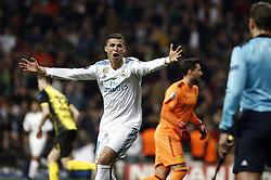 December 6, 2017 - Madrid, Spain - Cristiano Ronaldo seen during the UEFA Champions League group H match between Real Madrid and Borussia Dortmund at Santiago Bernabéu. (Credit Image: © Manu_reino/SOPA via ZUMA Wire)