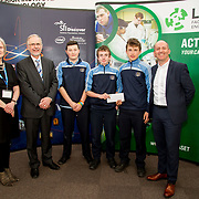 27.04.2016.          <br />  Kalin Foy and Ciara Coyle win SciFest@LIT<br /> Kalin Foy and Ciara Coyle from Colaiste Chiarain Croom to represent Limerick at Ireland's largest science competition.<br /> <br /> Scoil Pol, Kilfinnan students, Lorcan Ahern, Dónal Healy and Bradley Ahern project Aerodynamics of Paper Aeroplanes won Physical Sciences, Junior third. Lorcan Ahern, Dónal Healy and Bradley Ahern are pictured with George Porter, SciFest and Brian Ahern, Intel<br /> <br /> Of the over 110 projects exhibited at SciFest@LIT 2016, the top prize on the day went to Kalin Foy and Ciara Coyle from Colaiste Chiarain Croom for their project, 'To design and manufacture wireless trailer lights'. The runner-up prize went to a team from John the Baptist Community School, Hospital with their project on 'Educating the Youth of Ireland about Farm Safety'. Picture: Alan Place
