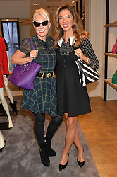 Left to right, AMANDA ELIASCH and HEATHER KERZNER at a lunch hosted by Alice Naylor-Leyland and Tamara Beckwith in celebration of the Coach 2015 collection held at Coach, New Bond Street, London on 18th September 2014.
