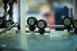Close-up of pressure gauges in industry, Hanover, Lower Saxony, Germany