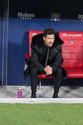 October 27, 2018 - Madrid, Madrid, Spain - Simeone..during the match between Atletico de Madrid vs Real Sociedad. Atletico de Madrid won by 2 to 0 over Real Sociedad whit goals of Godin and Filipe Luis. (Credit Image: © Jorge Gonzalez/Pacific Press via ZUMA Wire)