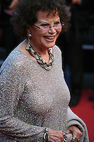Actress Claudia Cardinale at the 'Cleopatra' gala screening at the Cannes Film Festival  Tuesday 21 May 2013