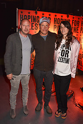 """Matthew Freud, Woody Harrelson, Bella Freud at """"Hoping For Palestine"""" Benefit Concert For Palestinian Refugee Children held at The Roundhouse, Chalk Farm Road, England. 04 June 2018. <br /> Photo by Dominic O'Neill/SilverHub 0203 174 1069/ 07711972644 - Editors@silverhubmedia.com"""