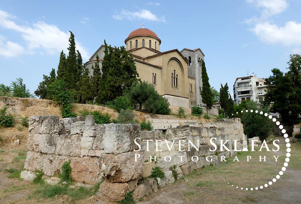 Rectangular Tomb of the Lakedaimonians killed in 403 BC in Piraeus. Kerameikos. Athens. Greece.