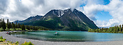 Kathleen Lake, near Haines Junction, Kluane National Park & Reserve, Yukon, Canada. This image was stitched from multiple overlapping photos.
