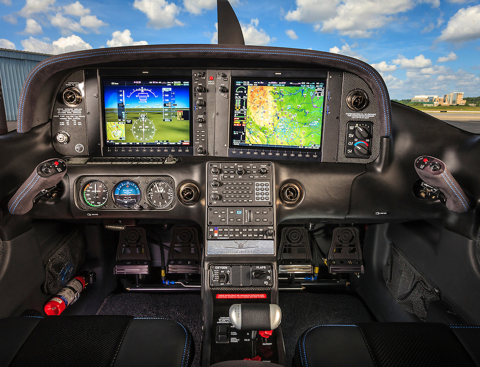 Panel of a Cirrus Vision Inspired SR22T.