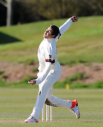 Somerset's Jamie Overton - Photo mandatory by-line: Harry Trump/JMP - Mobile: 07966 386802 - 24/03/15 - SPORT - CRICKET - Pre Season Fixture - Day 2 - Somerset v Glamorgan - Taunton Vale Cricket Club, Somerset, England.