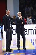 DESCRIZIONE : Cremona Lega A 2015-2016 Vanoli Cremona Grissin Bon Reggio Emilia<br /> GIOCATORE : Andrea Conti GM Cesare Pancotto Coach<br /> SQUADRA : Vanoli Cremona<br /> EVENTO : Campionato Lega A 2015-2016<br /> GARA : Vanoli Cremona  Grissin Bon Reggio Emilia<br /> DATA : 07/11/2015<br /> CATEGORIA : Coach<br /> SPORT : Pallacanestro<br /> AUTORE : Agenzia Ciamillo-Castoria/F.Zovadelli<br /> GALLERIA : Lega Basket A 2015-2016<br /> FOTONOTIZIA : Cremona Campionato Italiano Lega A 2015-16  Vanoli Cremona Grissin Bon Reggio Emilia<br /> PREDEFINITA : <br /> F Zovadelli/Ciamillo