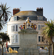 King George the third statue, Weymouth, Dorset, England