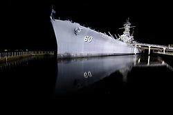 20 Apr 2013. Mobile, Alabama..The USS Alabama, a WWII era battleship turned museum in Mobile Bay. .Photo; Charlie Varley.